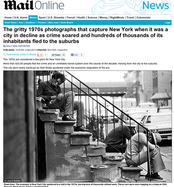 NYC 1970s - Daily Mail